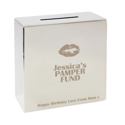Personalised Lips Square Money Box
